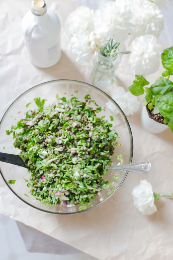 Chopped Herbs and Lentil Salad