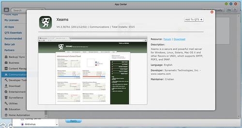 ดาวน์โหลด App มาจาก App Center เพื่อเพิ่มความสามารถให้กับ QNAP TS-251
