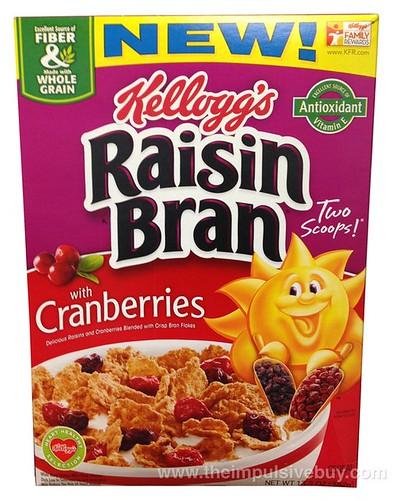 Kellogg's Raisin Bran with Cranberries Cereal
