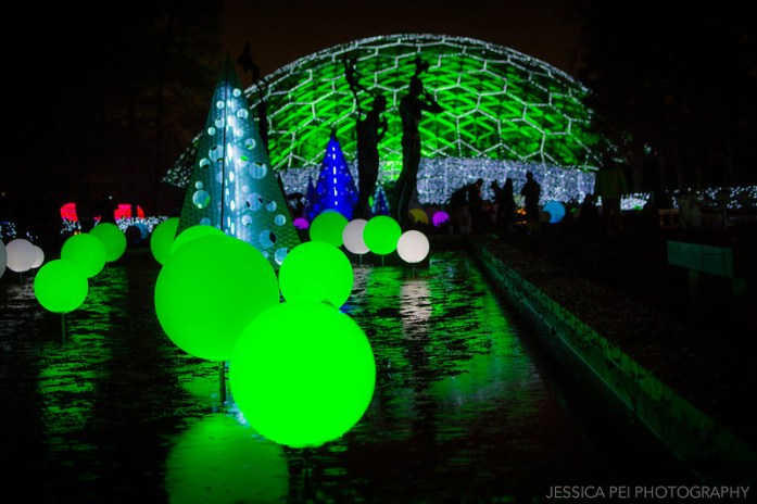 Climatron at Garden Glow in Missouri Botanical Garden St. Louis
