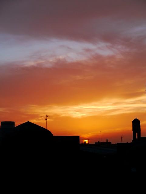 4) Sunset in Khiva