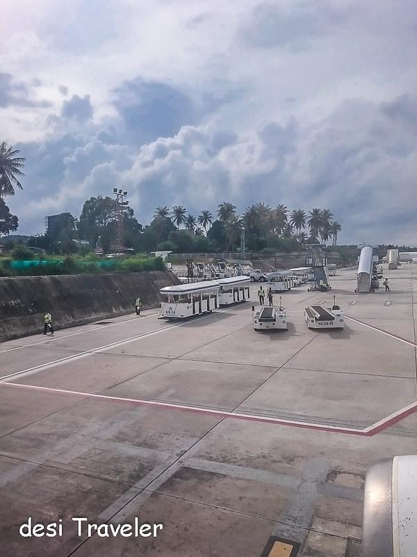 Tram buses of Koh Samui Airport