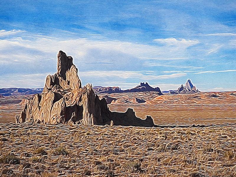 Church Rock Brushstroke