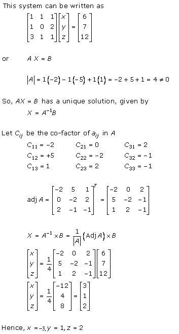 RD Sharma Class 12 Solutions Chapter 8 Solution of Simultaneous Linear Equations Ex 8.1 Q2-xii
