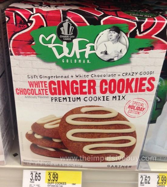 Charm City Cakes Duff Goldman White Chocolate Ginger Cookies Premium Cake Mix