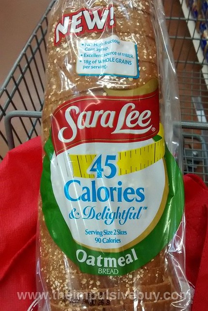 Sara Lee 45 Calories & Delightful Oatmeal Bread