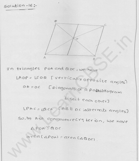 RD Sharma Class 9 solutions Chapter 15 Areas of parrallelograms and Triangles Ex 15.3 12