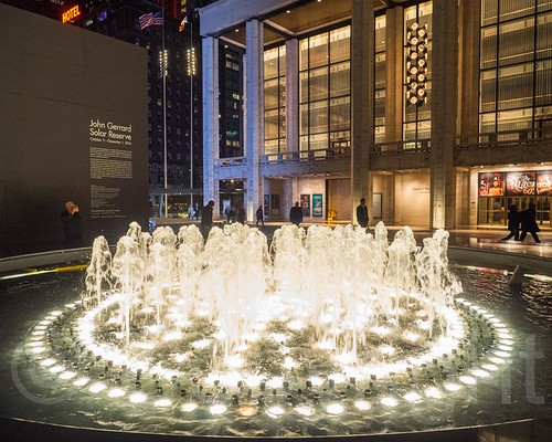 Revson Fountain with David H. Koch Theater, Lincoln Center, New York City