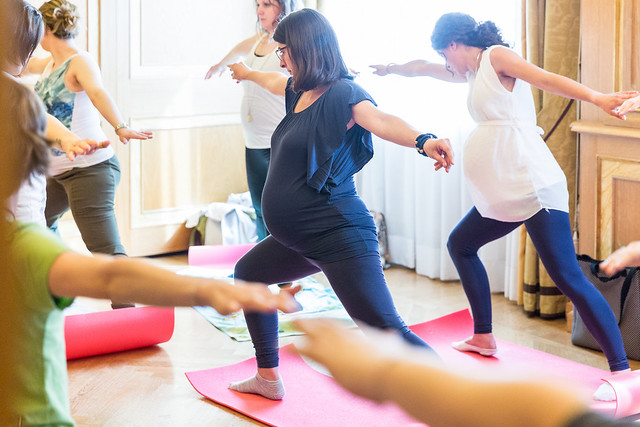 sessione di fitness al Baby Shower Party