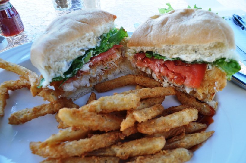 Crispy Grouper Sandwich - Elephant Walk at Sandestin Golf and Beach Resort, South Walton, Florida, Oct. 25, 2014