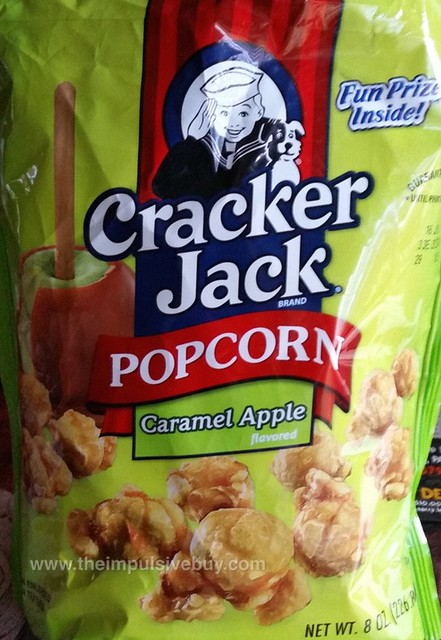 Cracker Jack Popcorn Caramel Apple