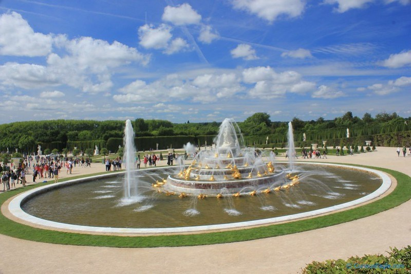 Bassin de Latone – Latona Fountain in Garden of Palace of Versailles