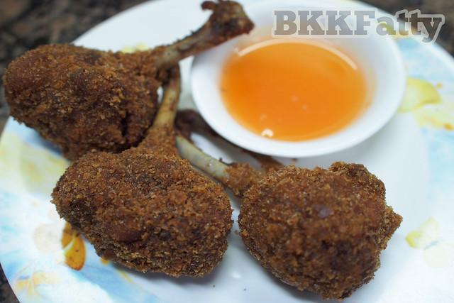 chicken lollipops at lucky 7 yangon