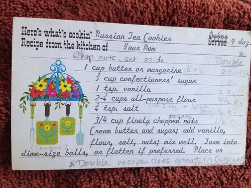 russian tea cookie recipe card front