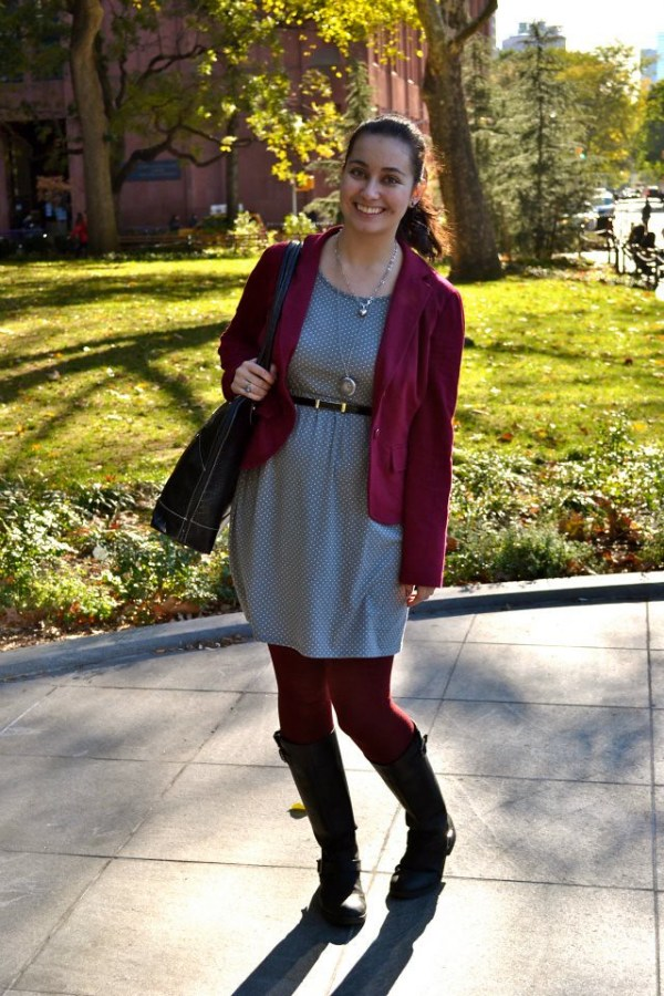 Maroon and Gray for Fall | Shades of Sarah
