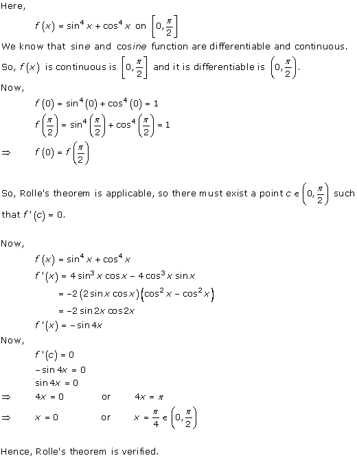 Free Online RD Sharma Class 12 Solutions Chapter 15 Mean Value Theorems Ex 15.1 Q6-xviii