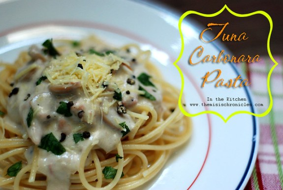 tuna carbonara recipe