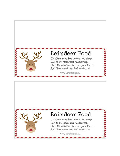Reindeer Food Signable Printable