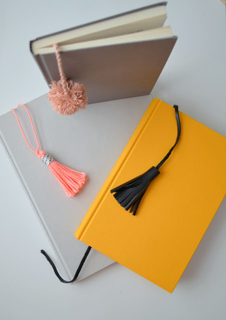 diy pom pom bookmarks