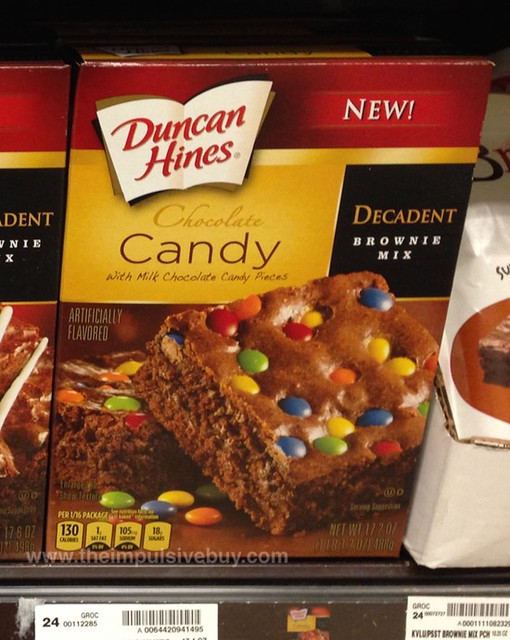 Duncan Hines Chocolate Candy Decadent Brownie Mix