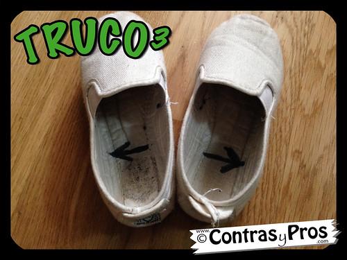 Truco zapatillas, zapatos, plantilla, calzado, niños, pie
