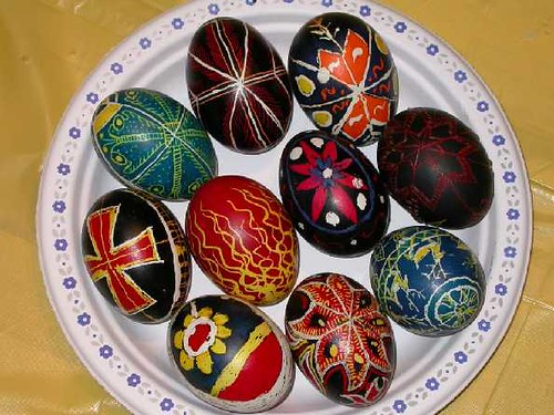 wax melting easter eggs