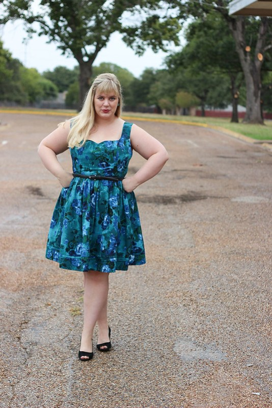 Idle Fancy - By Hand London Kim Dress - Blue Floral-1156