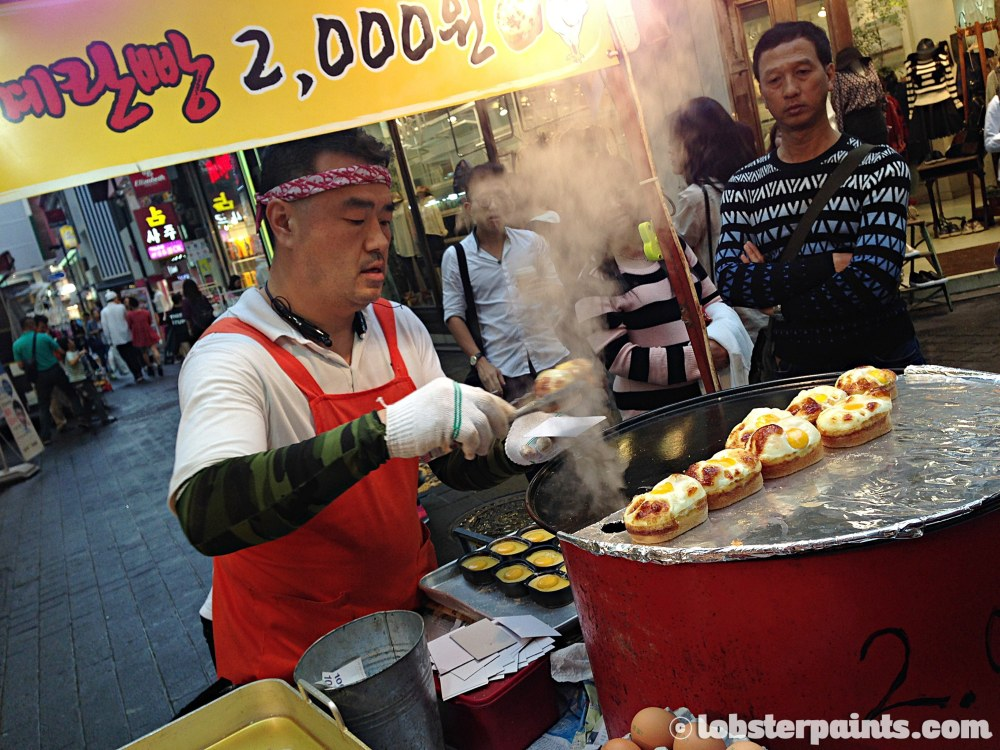 29 Sep 2014: Egg muffins 계란빵@ Myeongdong | Seoul, South Korea
