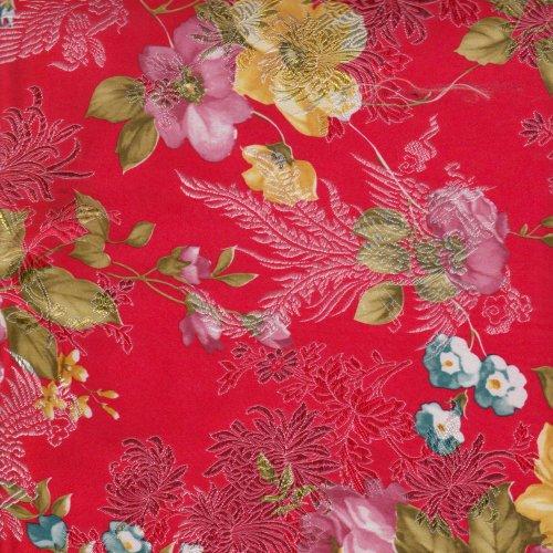 T690048 牡丹印花金蔥 2尺3_織錦緞_所有商品_鑫韋布莊窗簾網路購物