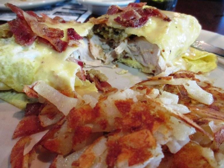 Thanksgiving Omelet from John Ski's House of Breakfast, Punta Gora, Fla., Nov. 24, 2014
