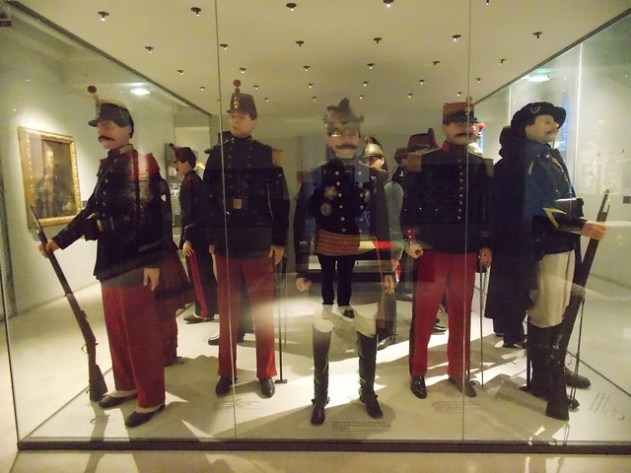 Estátuas de cera de oficiais franceses famosos na Guerra Franco Prussiana