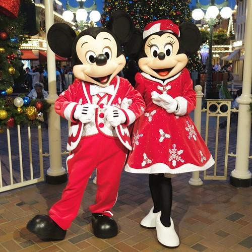 クリスマスなミッキーとミニー。 #tw