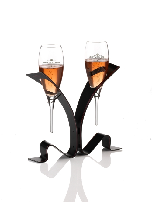 M&C Rose Unfurl the Tie - Toasting Tie Stand