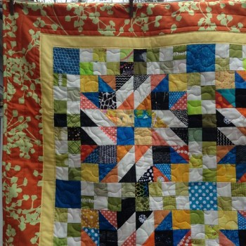 Grand Illusion quilt- baby quilt size
