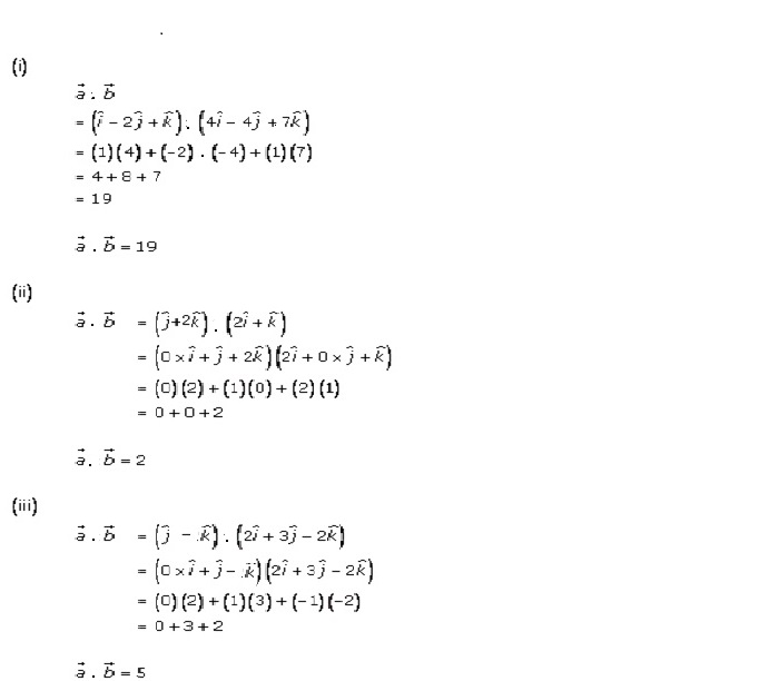 RD Sharma Class 12 Solutions Chapter 24 Scalar or Dot Product Ex 24.1 Q1