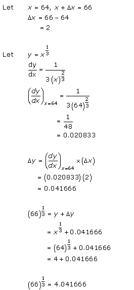 RD Sharma Class 12 Solutions Chapter 14 Differentials Errors and Approximation Ex14.1 Q9-xvii