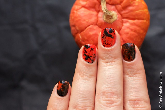 06 Morgan Taylor Halloween Collection 2014   Orange Crush swatches splatter nails
