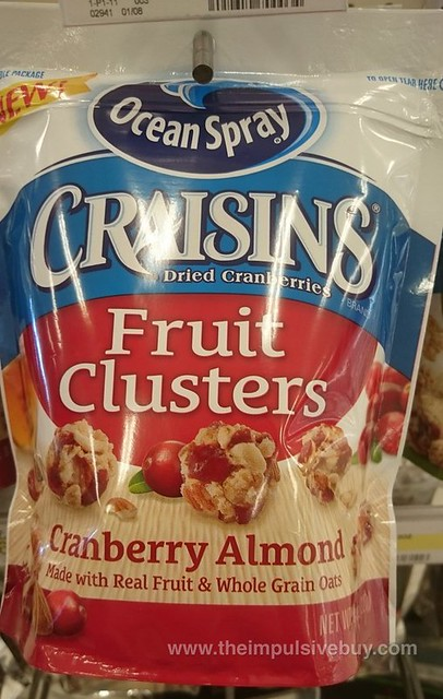 Ocean Spray Craisins Cranberry Almond Fruit Cluster