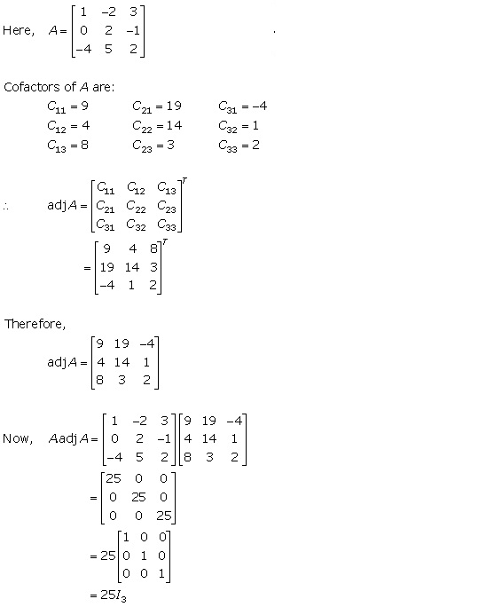 RD Sharma Class 12 Solutions Chapter 7 Adjoint and Inverse of Matrix Ex 7.1 Q6