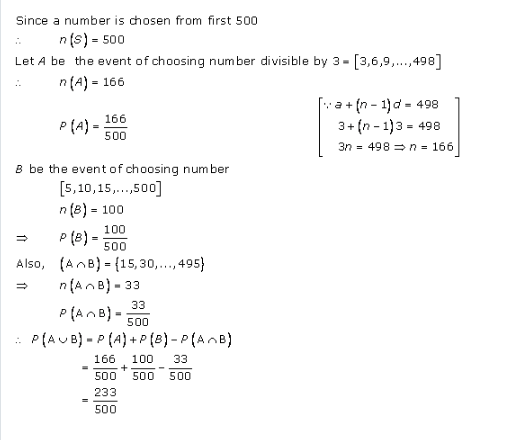 RD-Sharma-class-11 Solutions-Chapter-33-Probability-Ex-33.4-Q-10