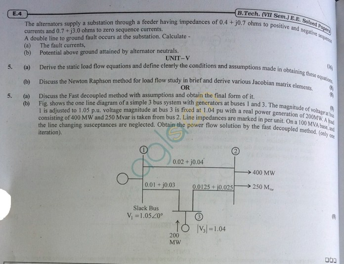 RTU: Question Papers 2013 - 7 Semester - EE - 7E4172