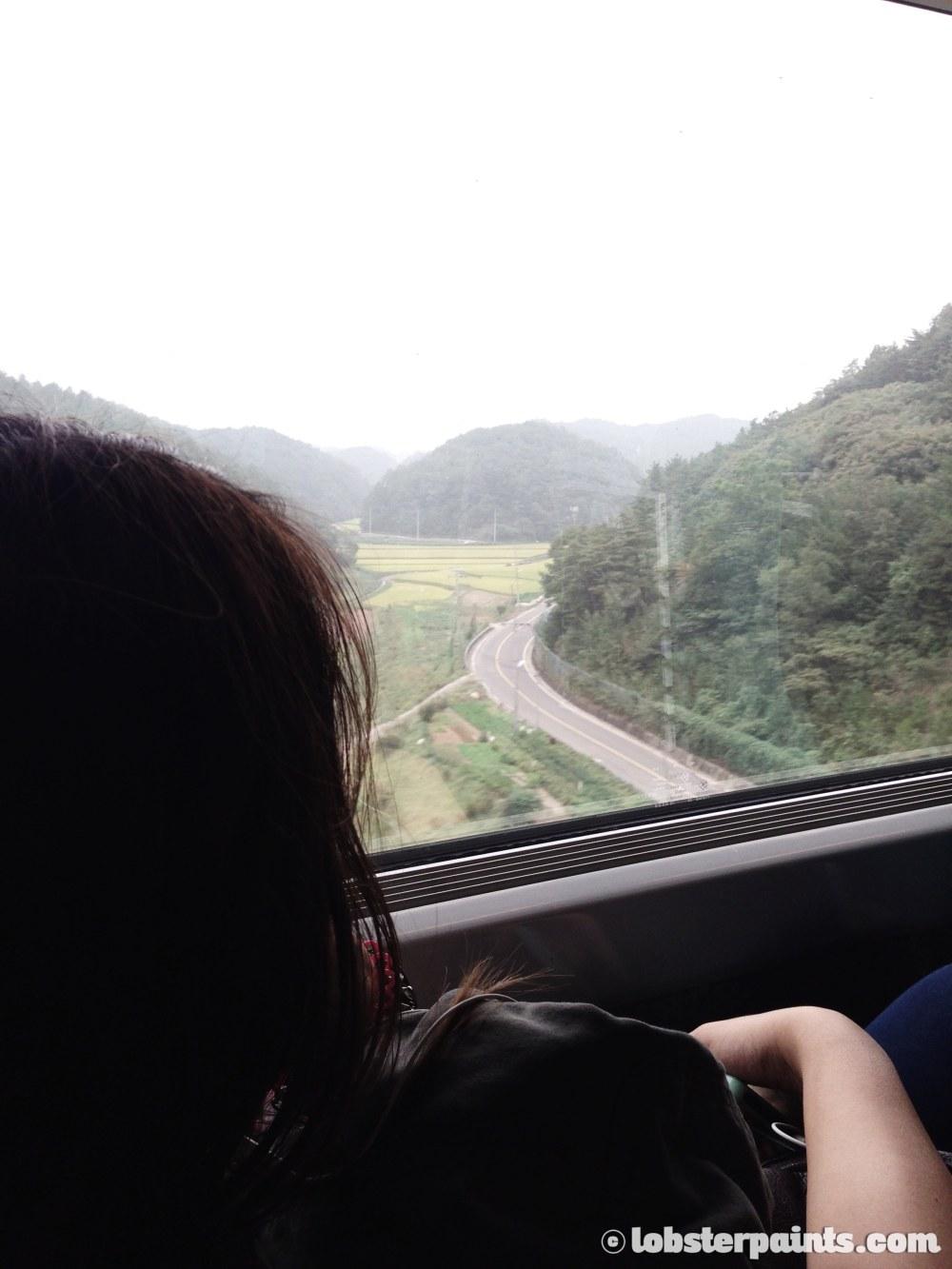29 Sep 2014: KTX Busan to Seoul at Busan Station   Busan, South Korea