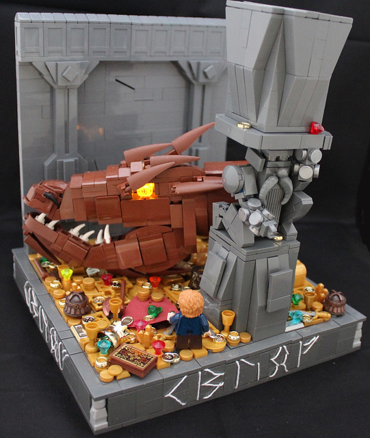 how to draw lego smaug