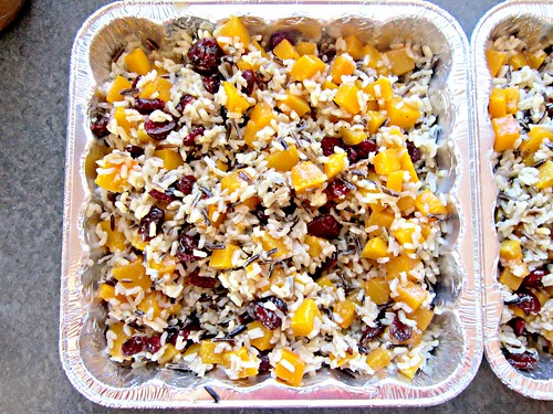 Butternut Squash and Cranberry Pilaf