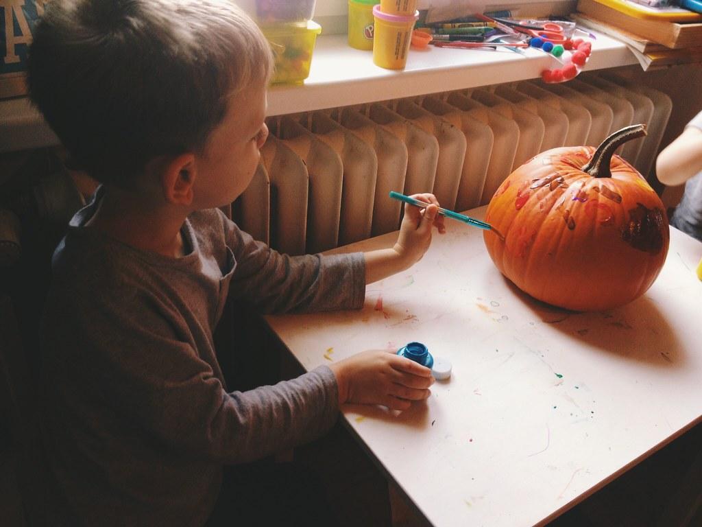 Painting Pumpkins (11/1/14)