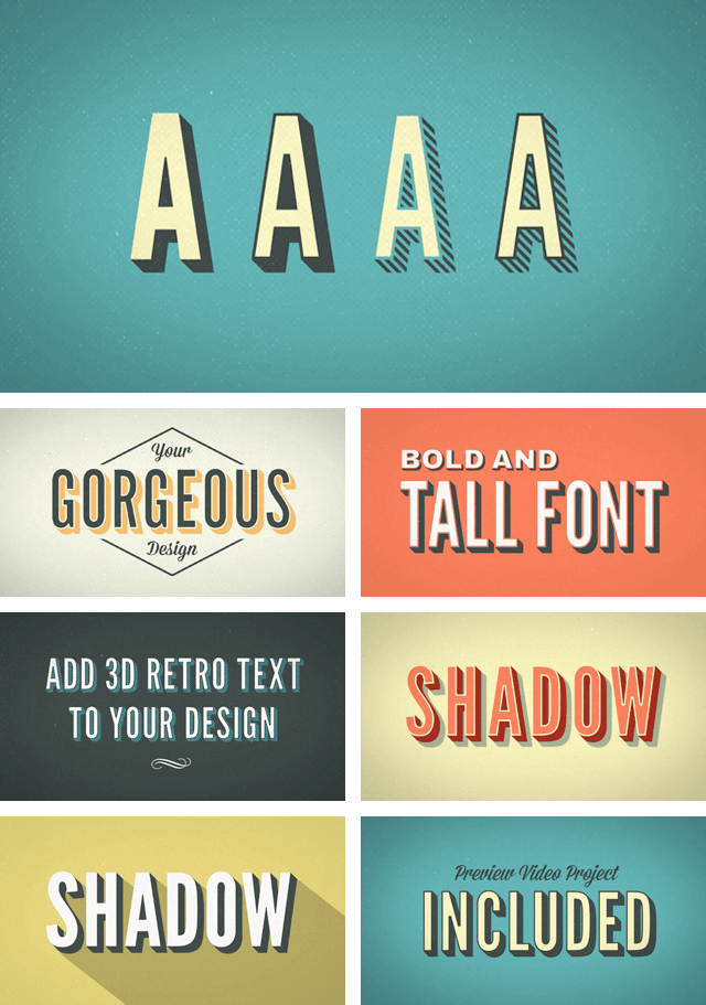 Retro_text_after_effects