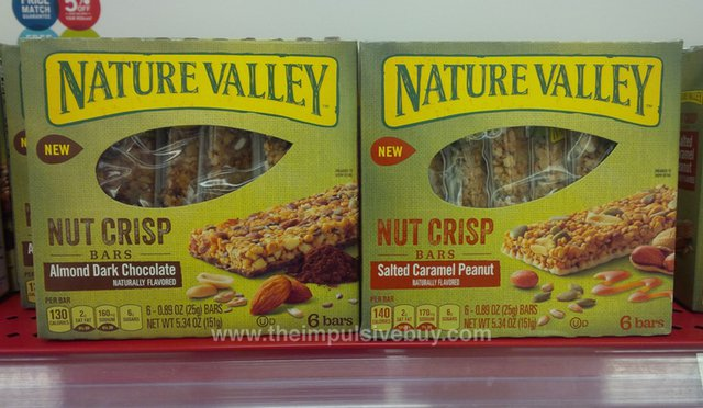 Nature Valley Nut Crisp Bars (Almond Dark Chocolate and Salted Caramel Peanut)