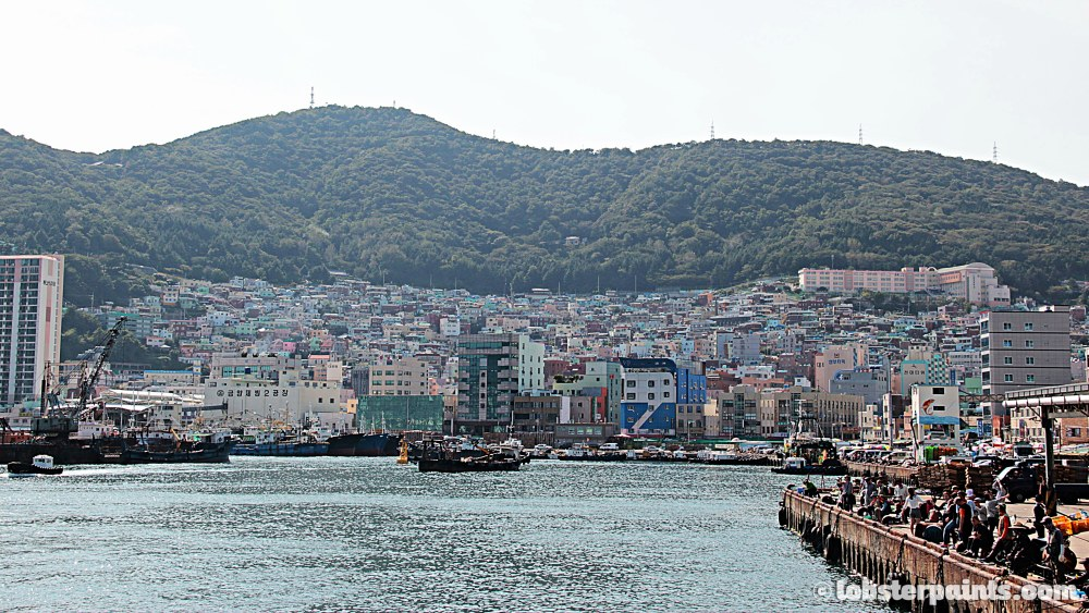 27 Sep 2014: Gamcheon Culture Village from Jagalchi Market | Busan, South Korea