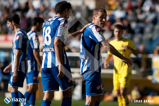 Jornada 16ª. Villarreal 3 - R.C.Deportivo 0