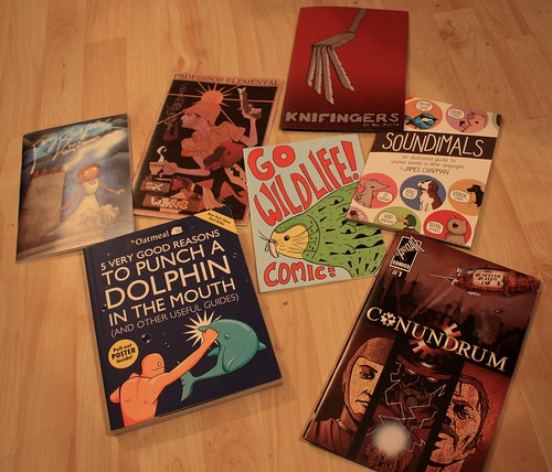 Comic books bought at Thought Bubble
